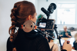 Filmmaker with camera