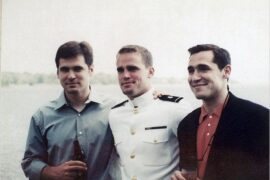 From left, Sean, Andrew and Mark McGinly in an undated photograph.Credit...Sean McGinly/HBO
